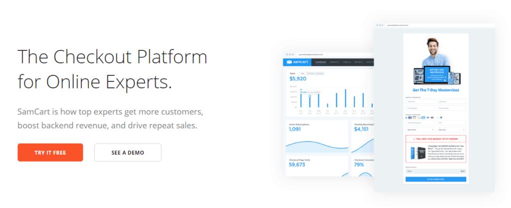 SamCart - Best ClickFunnels Alternatives